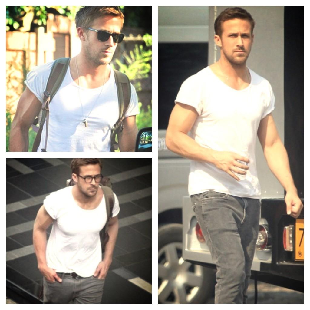 Ryan Gosling Arms White Tee